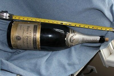huge champagne bottle