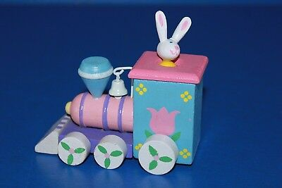 Cute Wooden Easter Bunny Train Toy