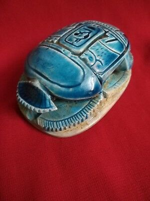 Ancient Egyptian Antiquities rare Scarab (721-707 BC)