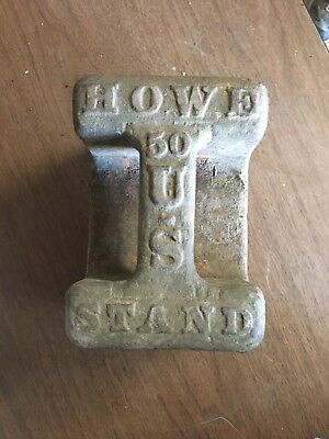 Antique Howe Cast Iron Scale Weight 50 Pounds Made in USA