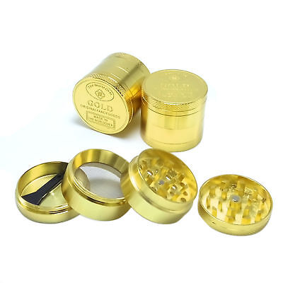 40MM Tobacco Herb Spice Grinder 4 Piece Herbal Alloy Smoke Metal Crusher 4Layers