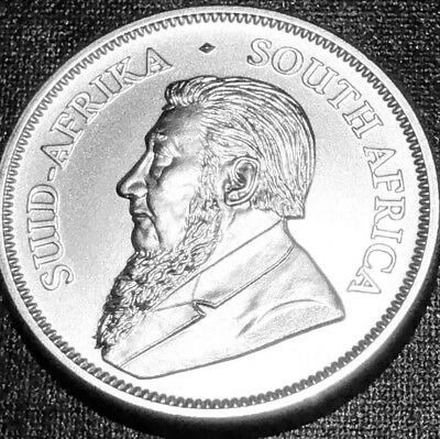 2018 SOUTH AFRICAN KRUGERRAND 1 Oz .999 SILVER GEM BU WITH FREE SHIPPING