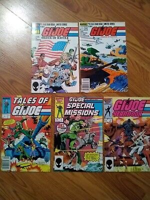 GI Joe Special Mission Order of Battle Yearbook Tales 1st printing 5 Comic Lot