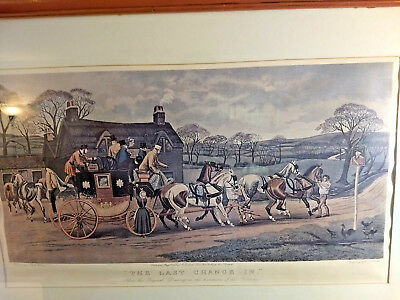 Color Lithograph called THE LAST CHANGE IN /w frame by T.N.H. WALSH - 1 May,1883