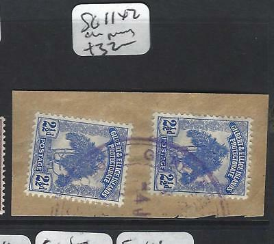 Gilbert And Ellice Islands (P1804B)  Tree 2 1/2D  Sg 11 X2 On Piece  Vfu