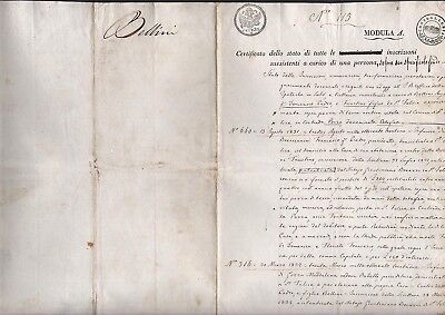 Italy 1833  Very Old Letter #2 J