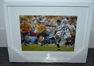 Jonny WIlkisnon signed framed photo with COA England Rugby World Cup