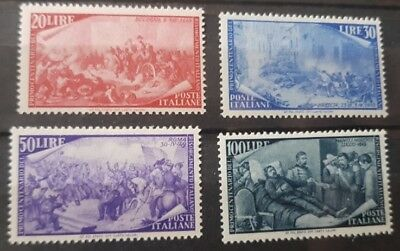 Italy Stamps 1949 Mnh To 100 Lire
