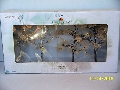 Department 56 Dept 56 Seasons Bay WINTER TREES 4PC #53384 NEW IN BOX