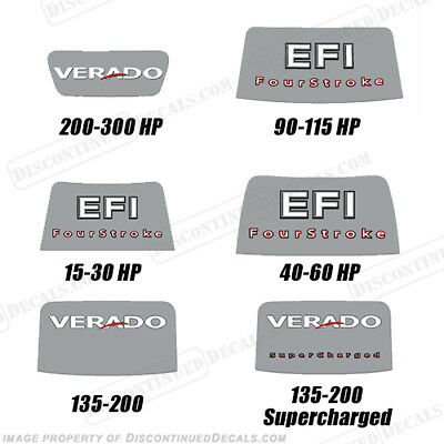 Mercury Rear Decal 2006-2012 (15-300 HP) 'Verado' or 'EFI' - Choose Style!