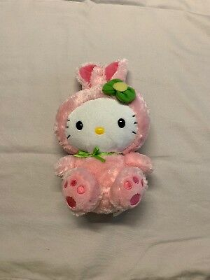 """Hello Kitty In Bunny Suit Plush Doll 2011 Stuffed Animal 15"""" Toy HTF By Ty"""