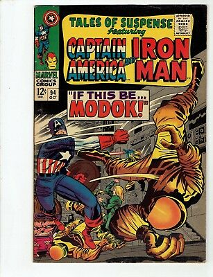 Tales of Suspense #94 (Oct 1967)KEY 1st MODOK! Stan Lee-No Reserve/Free Shipping