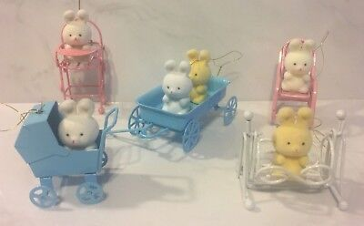 5# Vintage Avon Ornament - The Spring Bunny Collection - w/ Boxes Christmas Xmas