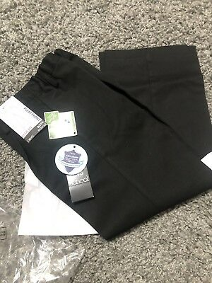 Next Boys Plus Fit Black School Trousers Age 7 Years Brand New