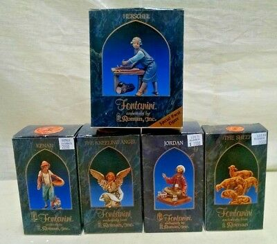 5 Fontanini Roman Fontanini Italy Nativity Scene Figures In Boxes