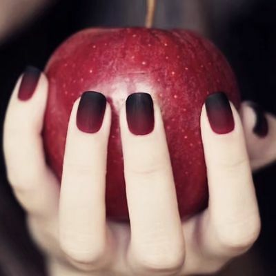 Press On Nails Ombre Fake Nails Red Black Elegant Artificial Easy To Do Party 24