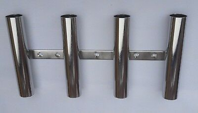 4 TUBE STAINLESS STEEL 316 BOAT FISHING ROD HOLDER (40 mm tube)
