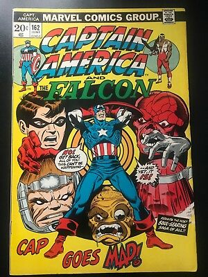 Captain America  #162 Vol 1 Marvel Comics  Dr. Faustus Pt.2  Cents Issue