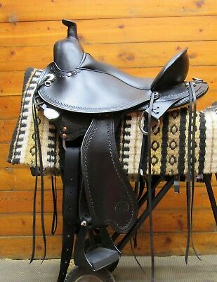 16 BARREL RACING Show Trail Pleasure Floral Tooled Leather