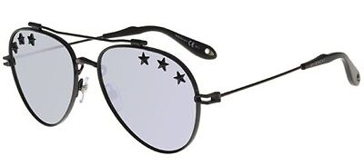 ed99977778 GIVENCHY GV 7057 STARS BLACK SILVER unisex AUTHENTIC Sunglasses ...