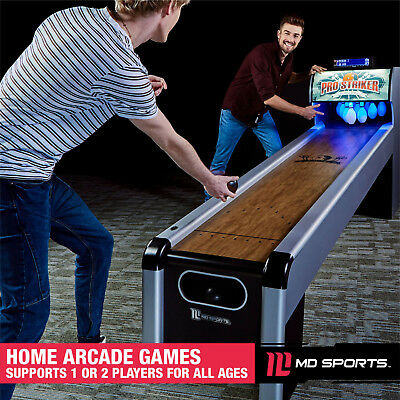 10 Ft. Arcade Bowling Game Table LCD Electric Scorer, Skee-Ball