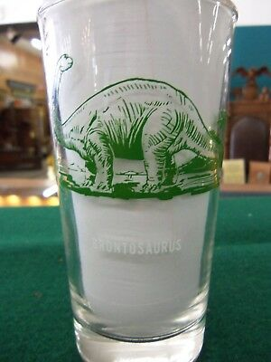 Sinclair Oil Gas Pump Glass Collection Dinosaur Brontosaurs Glasses