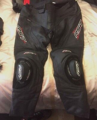 Mens RST Leather Motorcycle Trousers Size 40 Waist