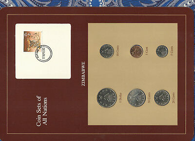 Coin Sets of All Nations Zimbabwe 1980-1988 UNC 50 cents 1988