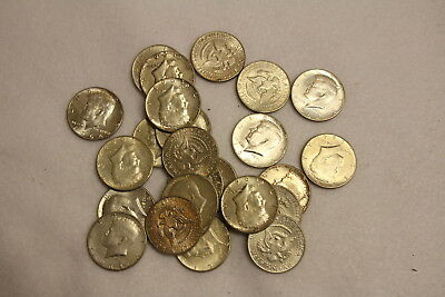 Lot of 25 Coins, 1964 Kenndy Half Dollars, 50 Cent, 90% Silver, Stk#1142