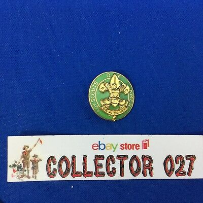 Boy Scout Assistant Scoutmaster Collar Pin Gold Tone Vertical Safety Pin