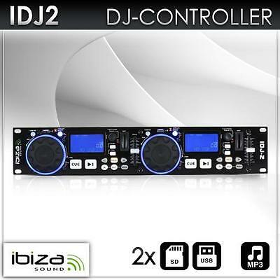 Doppel Usb Sd Cd/mp3-Player Dj Controller Lcd Pitch Cue