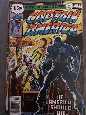 Captain America #231_March 1979 Falcon_Peggy Carter_Bronze Age Marvel_Uk!
