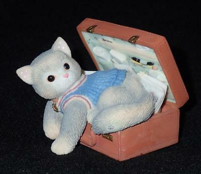 Enesco Calico Kittens 1998 A Hug-A-Day Packs Your Troubles Away Figurine #C0/109