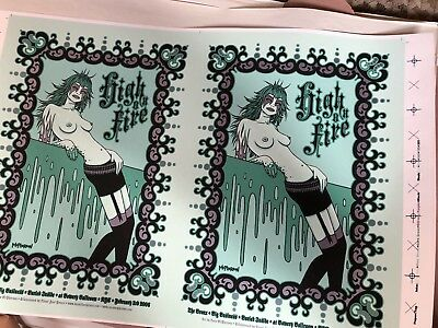 Tara McPherson HIGH ON FIRE EXTREMELY RARE UNCUT POSTER FREE US SHIPPING