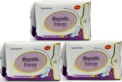 Longrich Magnetic Sanitary Napkin (Nighttime/Heavy Flow) - 3-Pack Offer