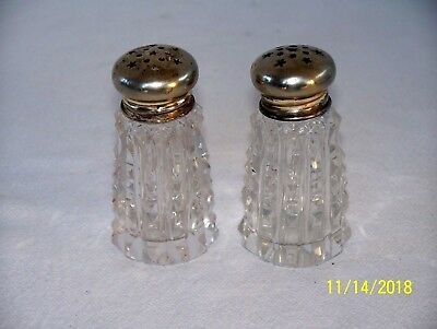 Vintage Cut Crystal Salt And Pepper Shakers