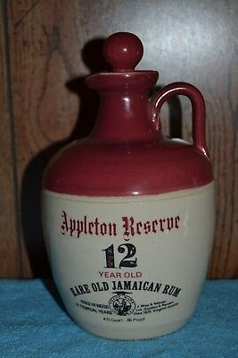 Appleton Reserve 12 Year Old Jamaican Rum Ceramic Jug Bottle With Stopper