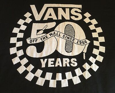 VANS Black White 54 x 64 Throw Blanket 50 Years Fringe Off The Wall Since 1966!