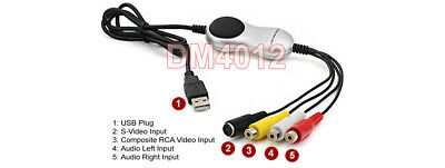 PC-Based Video Frame Grabber DVR Adapter With Composite RCA S-Video Input