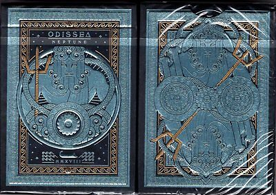 Odissea Neptune Playing Cards Poker Size Deck USPCC Custom Limited Sealed New