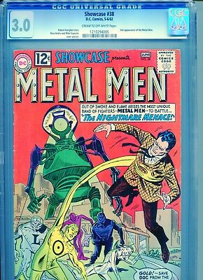 Showcase #38 - 2nd appearance of the Metal Men! CGC 3.0 (G/VG) (5-6/1962, DC)