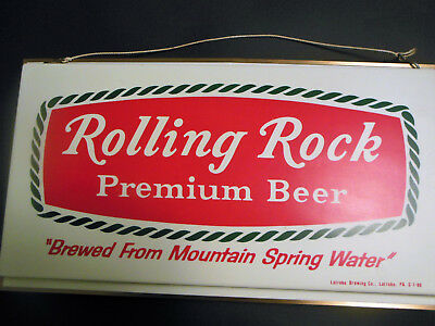 Original Rolling Rock Premium Beer Bar Sign Latrobe Pa Double-sided beer sign