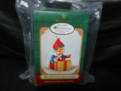 """Hallmark Keepsake """"Ready For Delivery"""" 2001 Collector's Club Ornament NEW"""