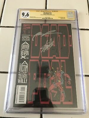 Deadpool #1 Circle Chase Signed Stan Lee Rob Liefeld CGC 9.6 Cbcs Charity 4 Kids