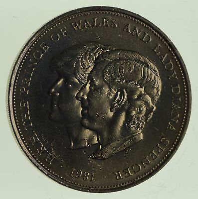 1981 Great Britain 25 New Pence - Royal Wedding - World Coin *468