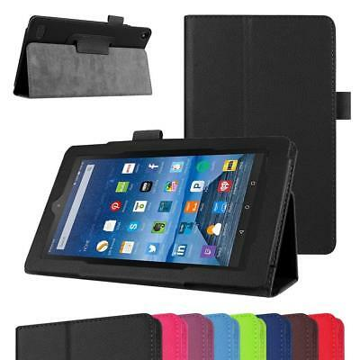 """Folding Leather Cover Flip Stand Case For Amazon Fire 7"""" 2017 Alexa (7th Gen) UK"""