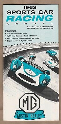 1963 Sports Car Racing Annual MG Austin Healey Booklet