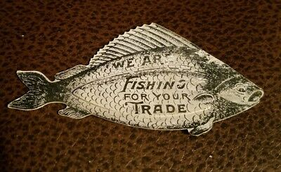 Vintage Advertising We Are Fishing for your Trade The Billings Chapin Co.  Fish