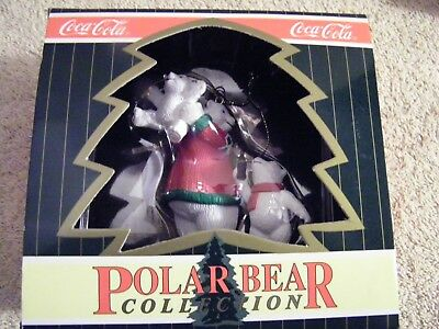Coca Cola Polar Bear Mother and Babies Ornament NEW