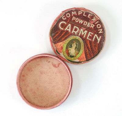 Early 1900s CARMEN Complexion Powder Container Stafford Miller Company St Louis
